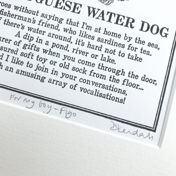 Personalised Doggerel Print | The Enlightened Hound