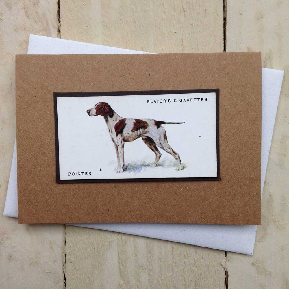 Short Haired Pointer English German greeting card | The Enlightened Hound