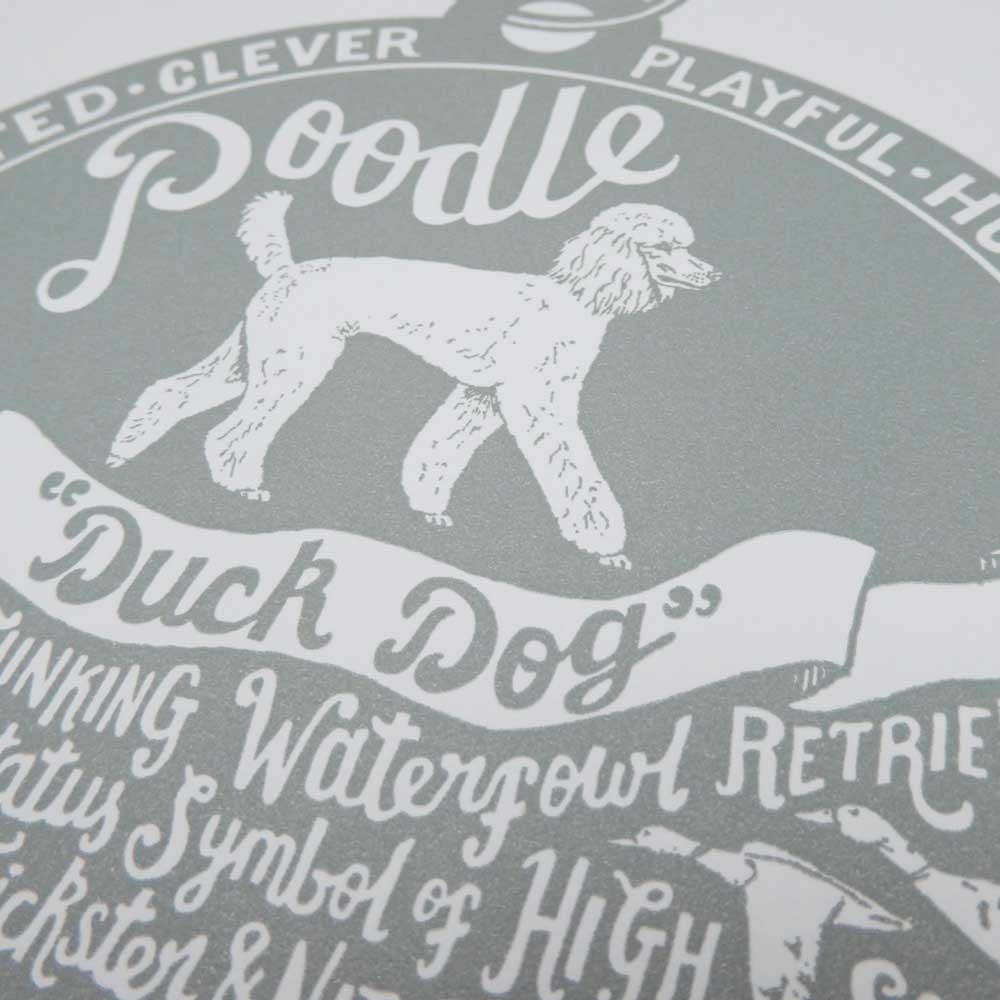 Poodle original art prints - Hand lettering & Illustration by Debbie Kendall