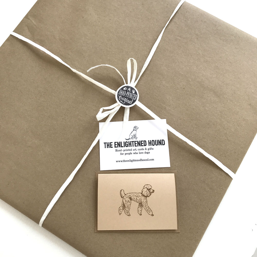 Gift wrapped Poodle print | The Enlightened Hound