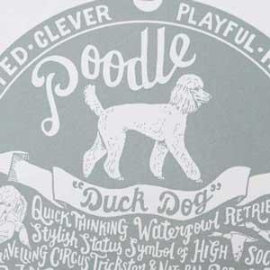 Poodle Print Detail by Debbie Kendall