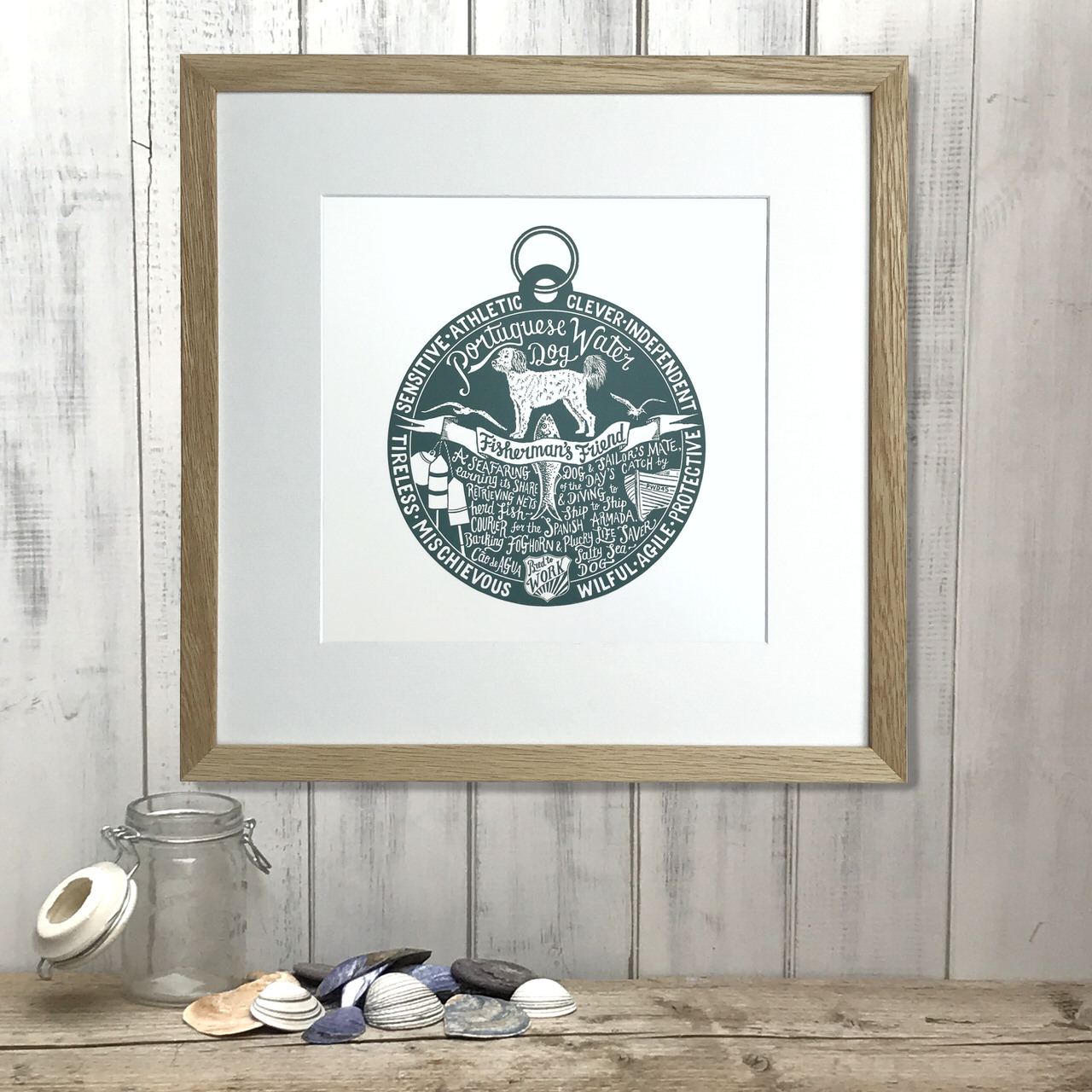 Portuguese Water Dog lover dog art gifts by The Enlightened Hound