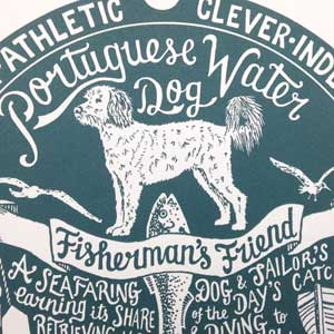 Portuguese Water Dog Print Detail by Debbie Kendall