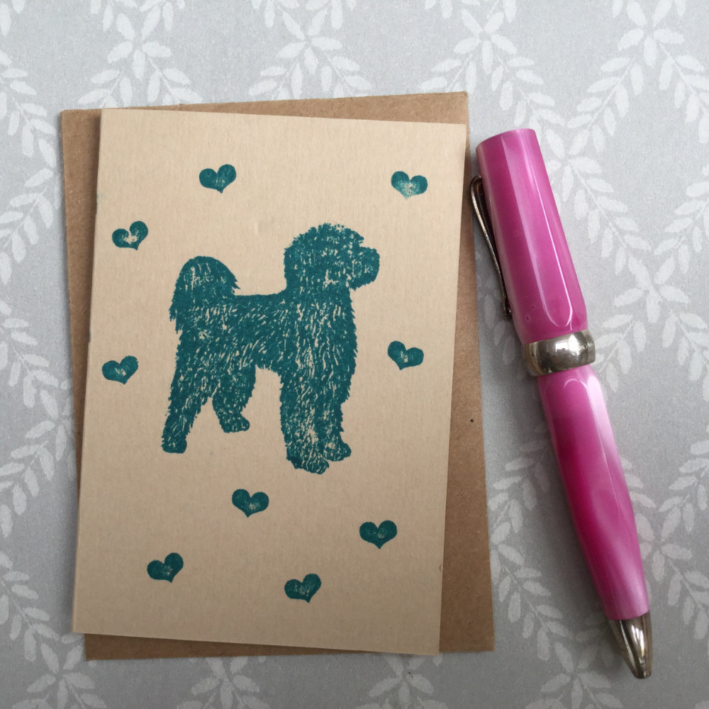 Portuguese Water Dog Rubber Stamp | The Enlightened Hound