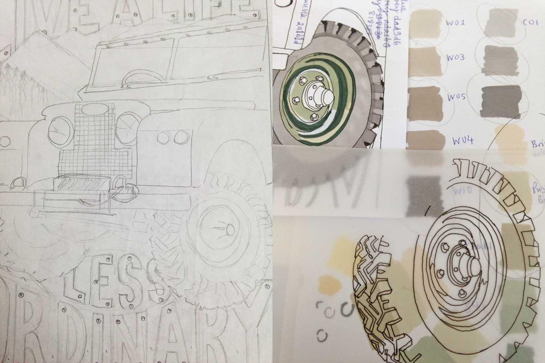 Land Rover sketch