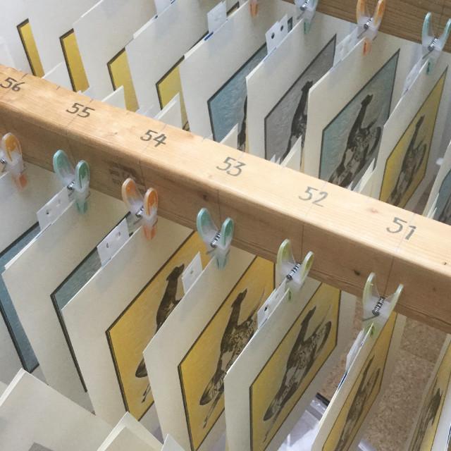 Handmade print drying rack | The Enlightened Hound