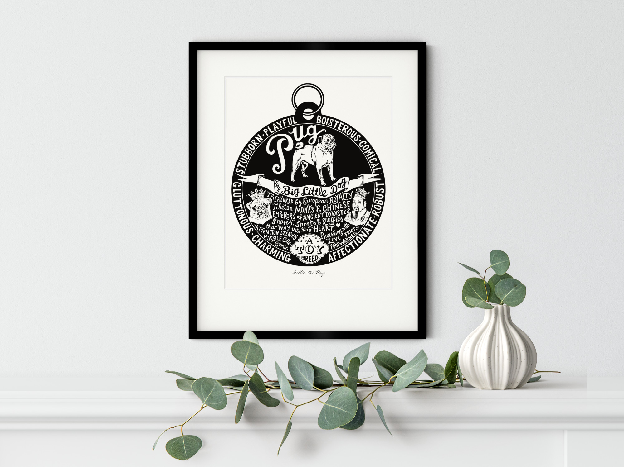 Pug Art Print | The Enlightened Hound