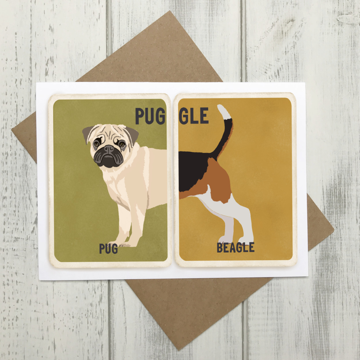 Puggle Cross Breed Card | Pug Beagle Cross