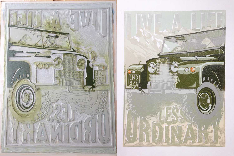 linocut printing process