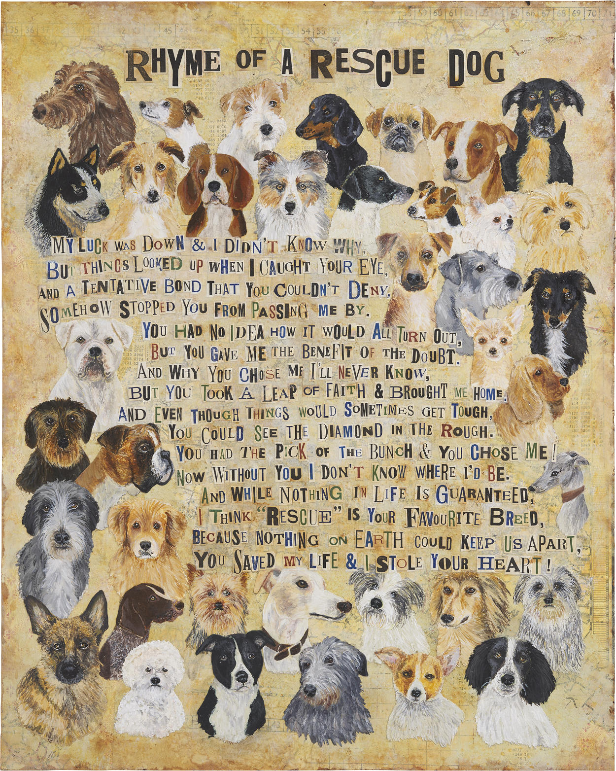 Rhyme of a Rescue Dog Fine Art Print
