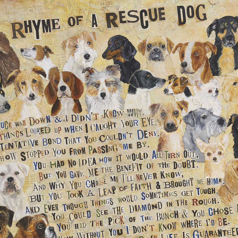 Rescue Dog Fine Art Print by The Enlightened Hound