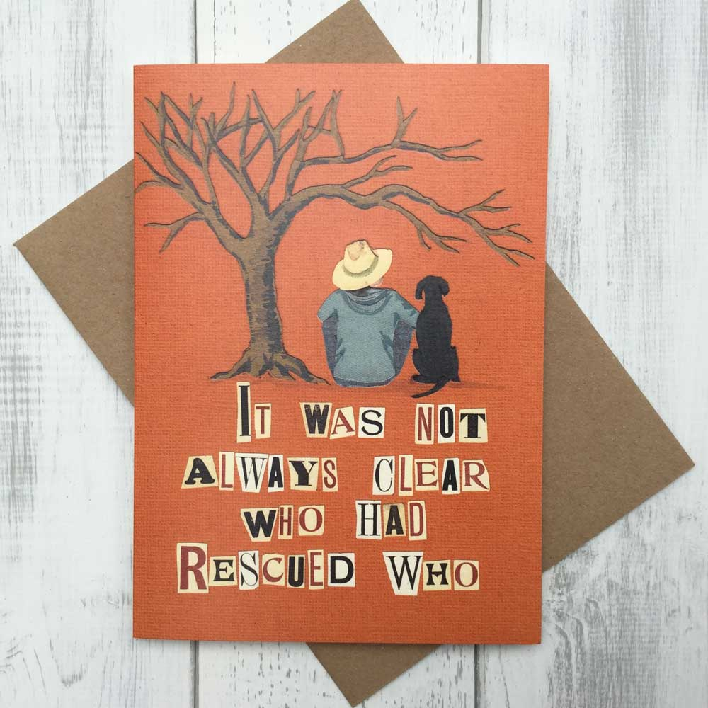 Rescue Dog Greeting Card