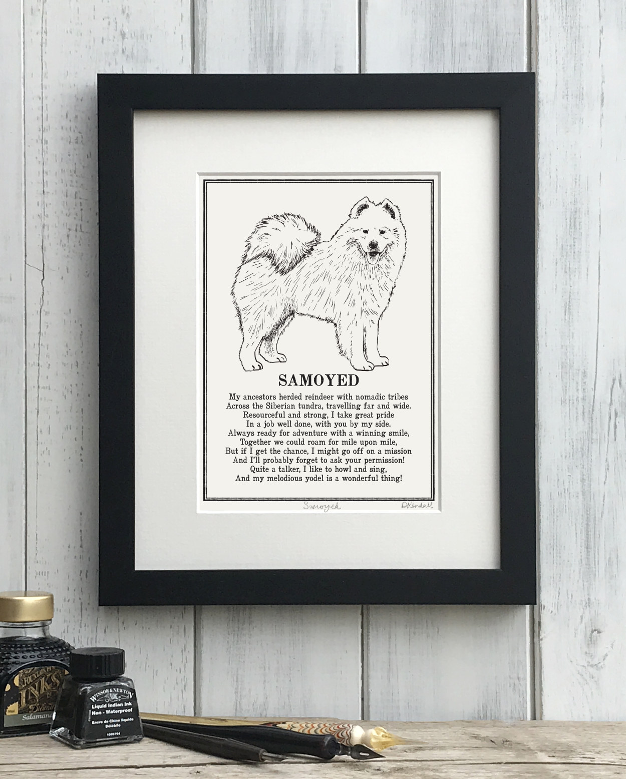 Samoyed Doggerel Print
