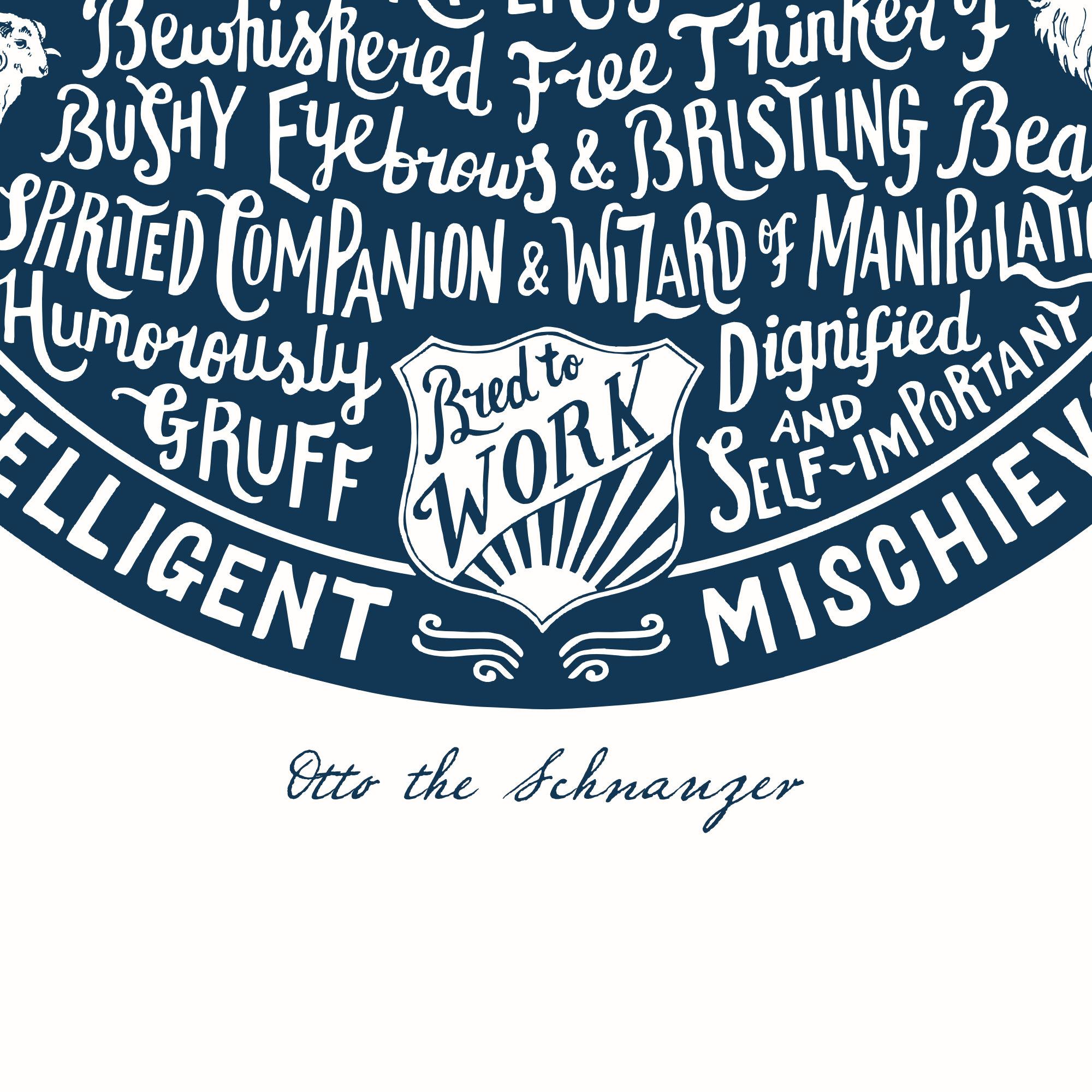 Personalised Schnauzer Print | The Enlightened Hound
