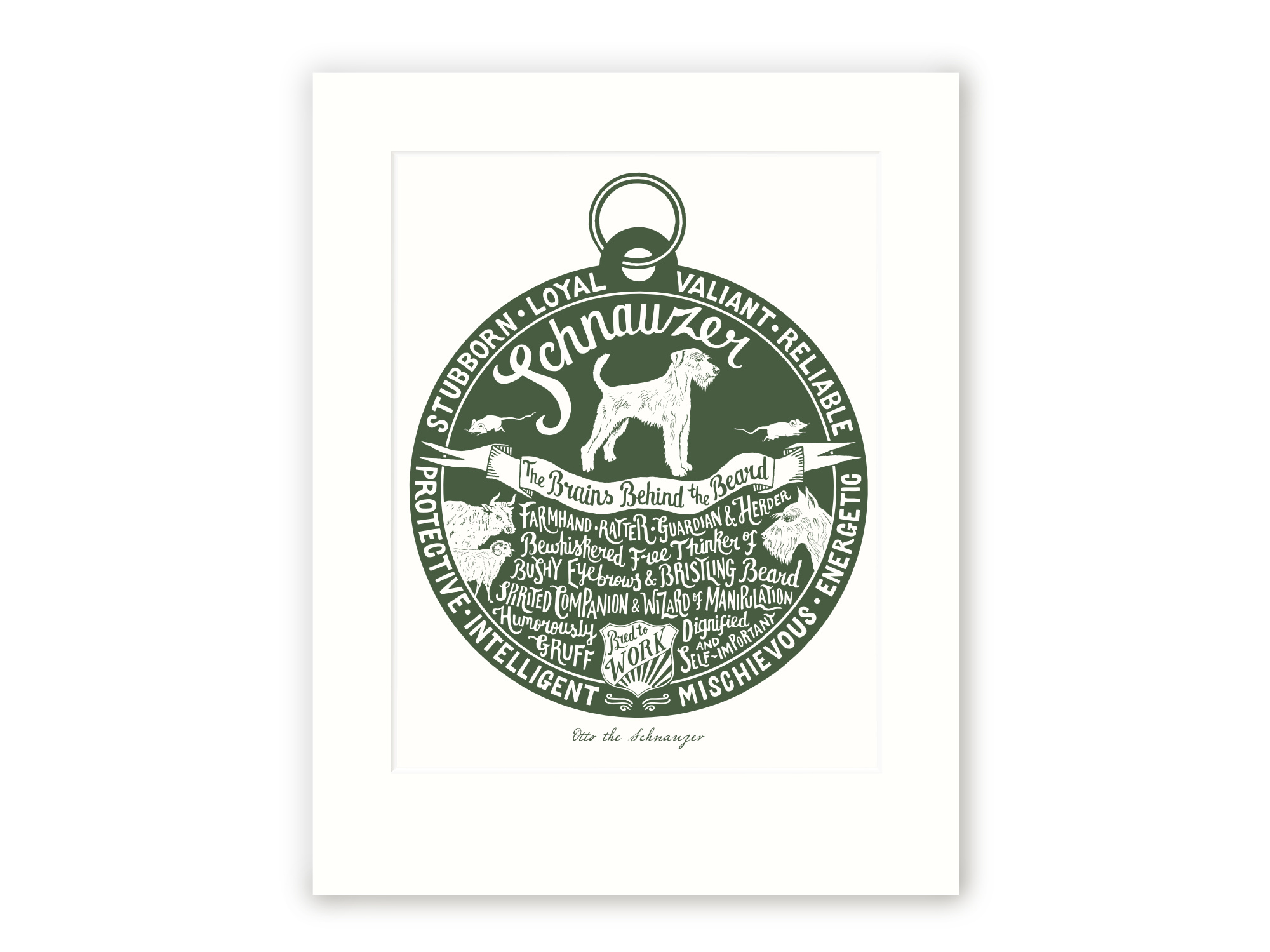 Schnauzer - Personalised Prints for Dog Lovers by The Enlightened Hound