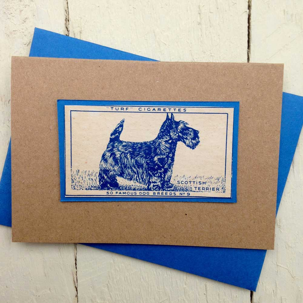 Scottish Terrier Vintage Greeting Card - The Enlightened Hound