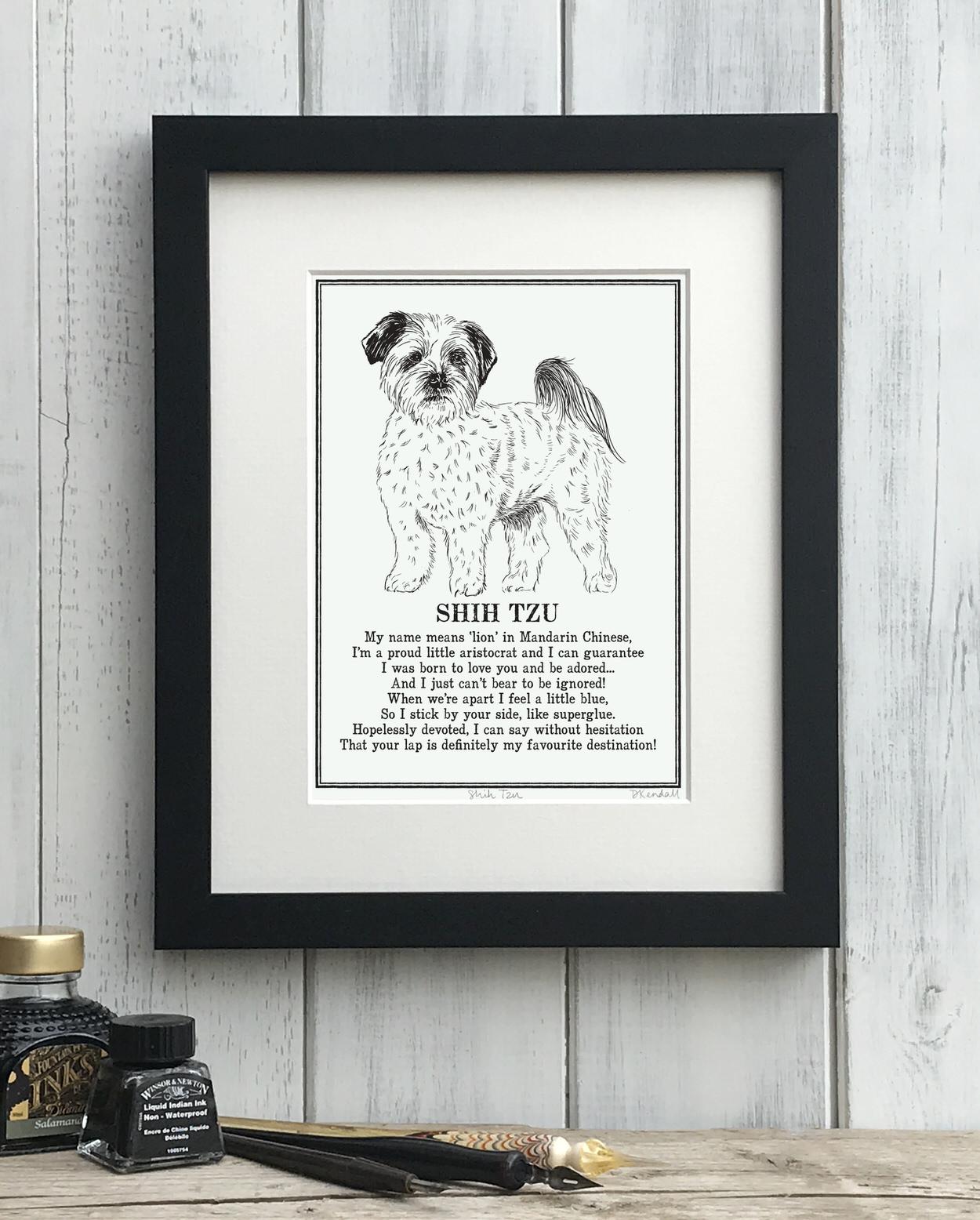 Shih Tzu Doggerel Print