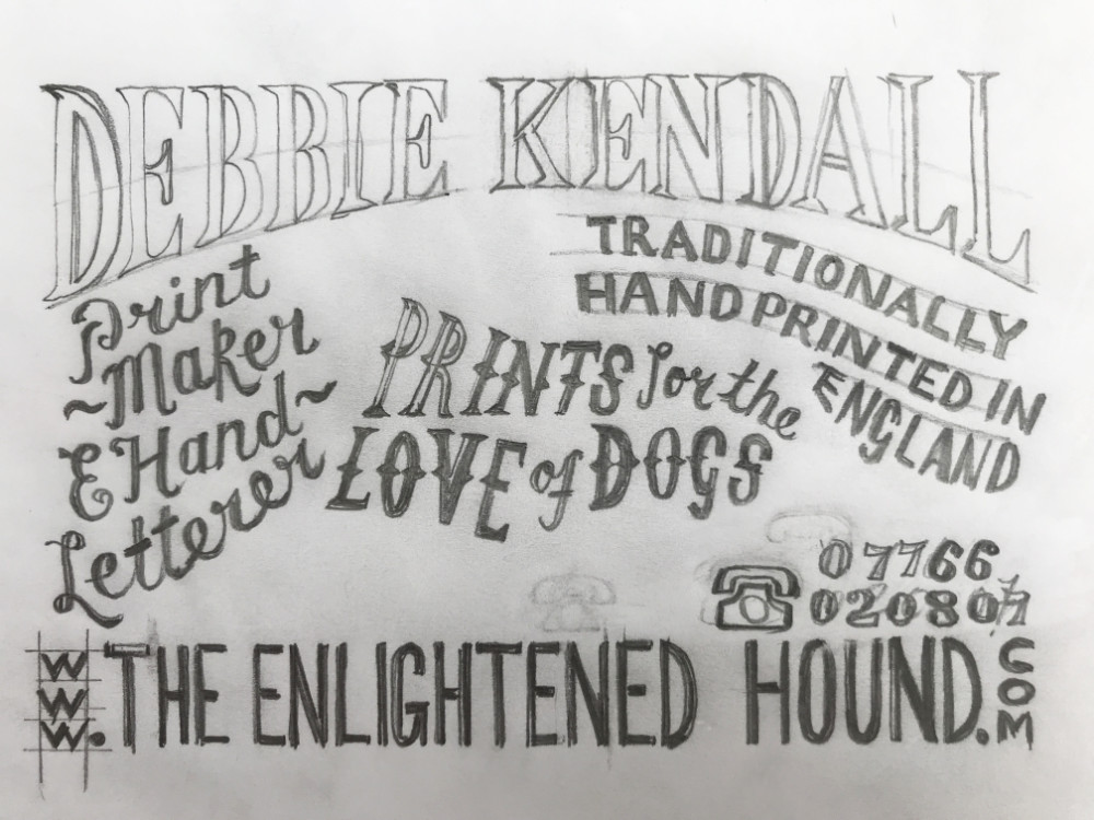 Hand Lettering Sketch Logo Design | The Enlightened Hound