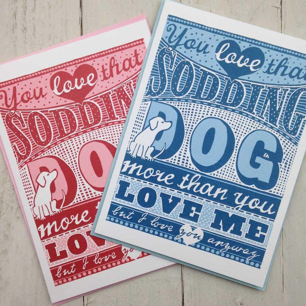 Sodding Dog Birthday Card Dog Lover | The Enlightened Hound