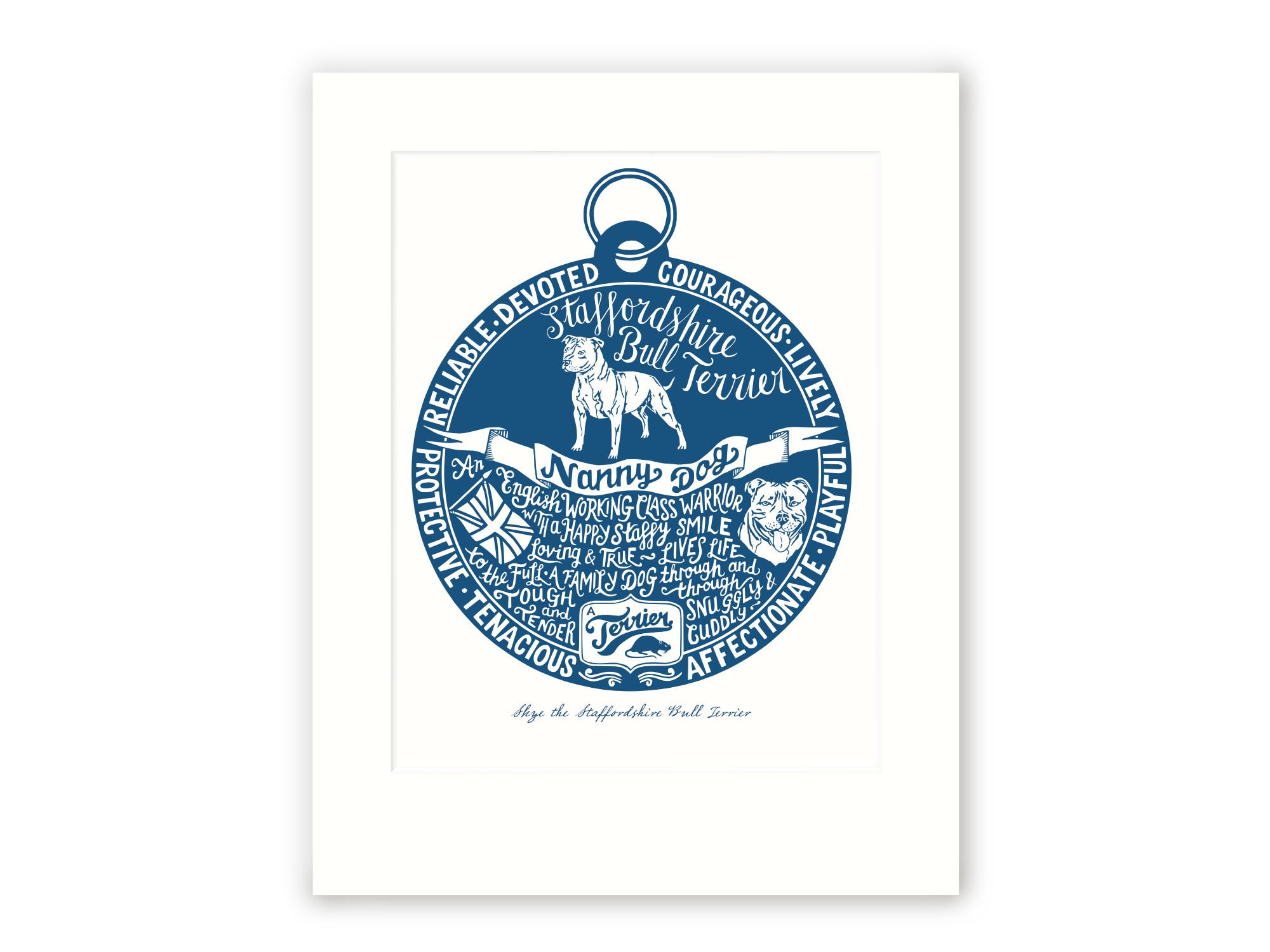Staffordshire Bull Terrier Art Print | The Enlightened Hound