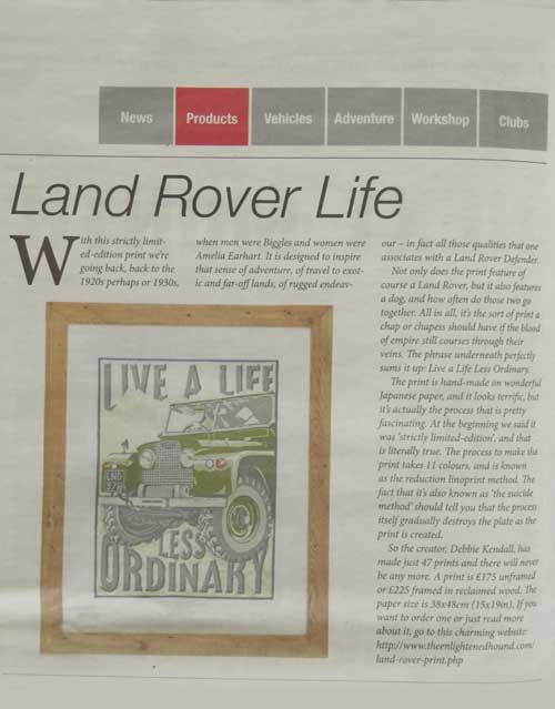 The Enlightened Hound in The Landy newspaper