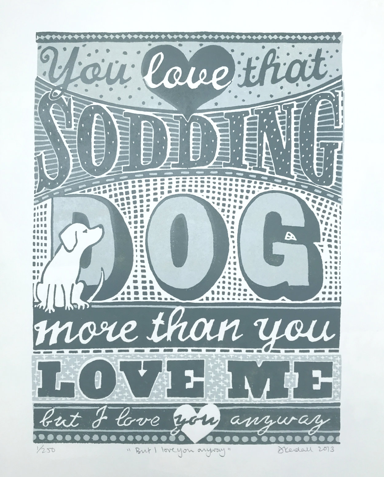 The Sodding Dog Limited Edition Linoprint | The Enlightened Hound