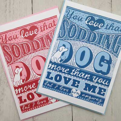 Valentines cards for dog lovers The Enlightened Hound