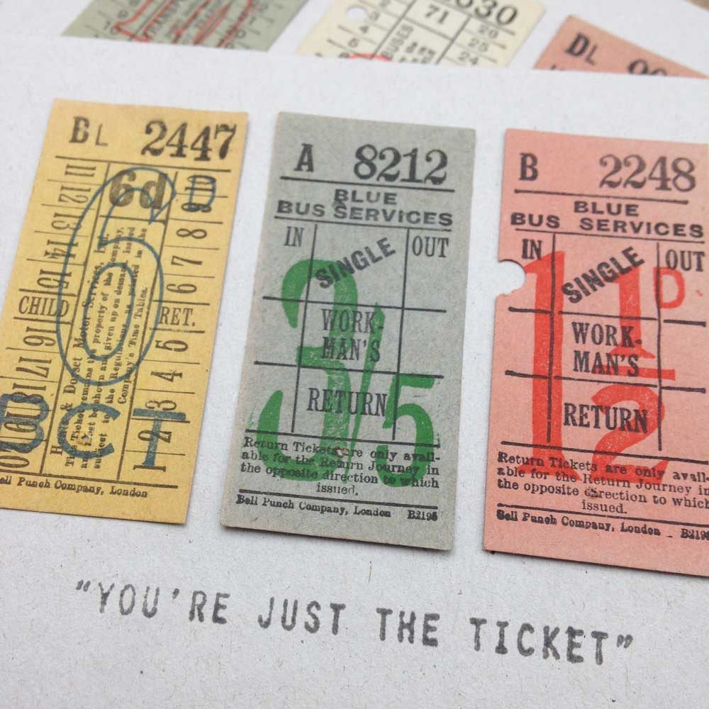 Just the Ticket Vintage Greeting Card | The Enlightened Hound