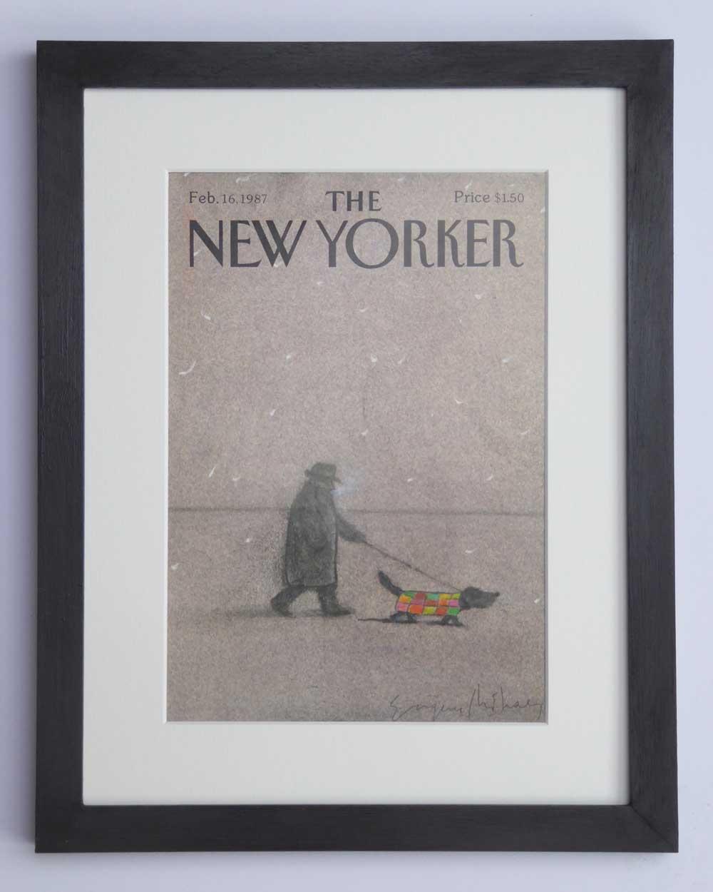 Vintage Art Gift Dachshund  Lover - Winter Dog Walks by The Enlightened Hound