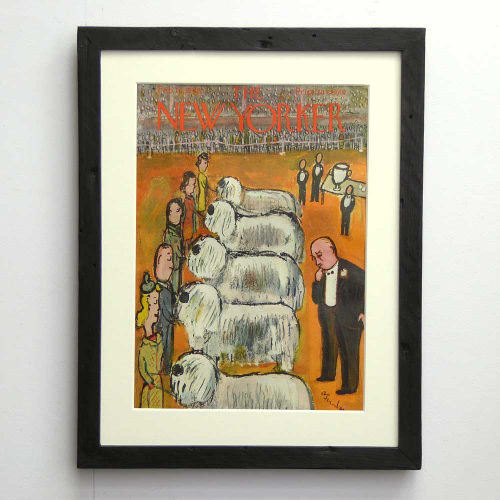 Old English Sheepdog Vintage Dog Art By The Enlightened Hound