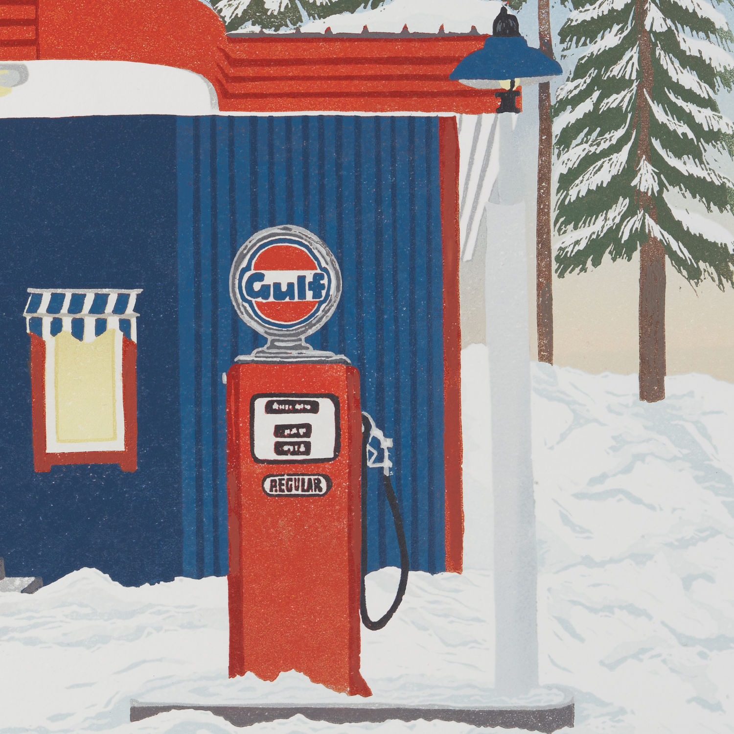 Vintage Gulf Oil Gas Station Pump Print | The Enlightened Hound