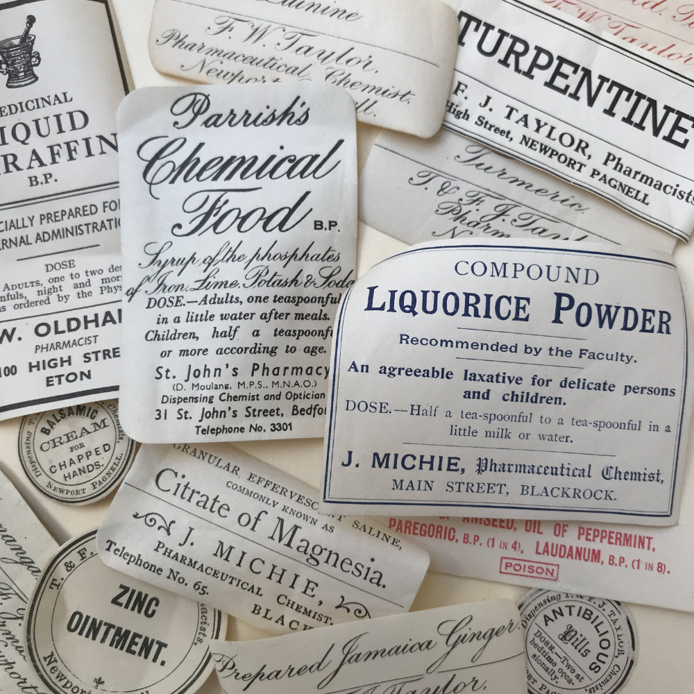 Vintage Pharmacy Labels| The Enlightened Hound