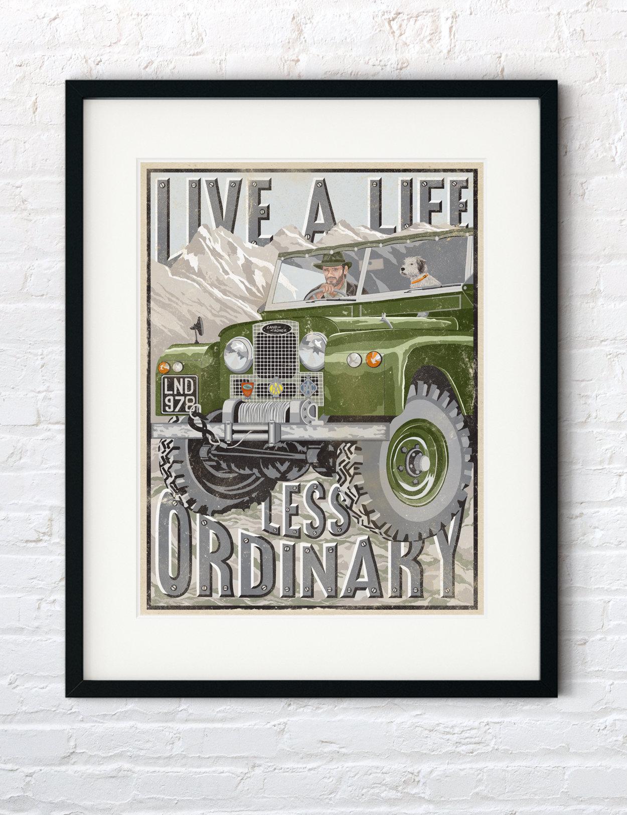Land Rover Defender Series Vintage Print | The Enlightened Hound