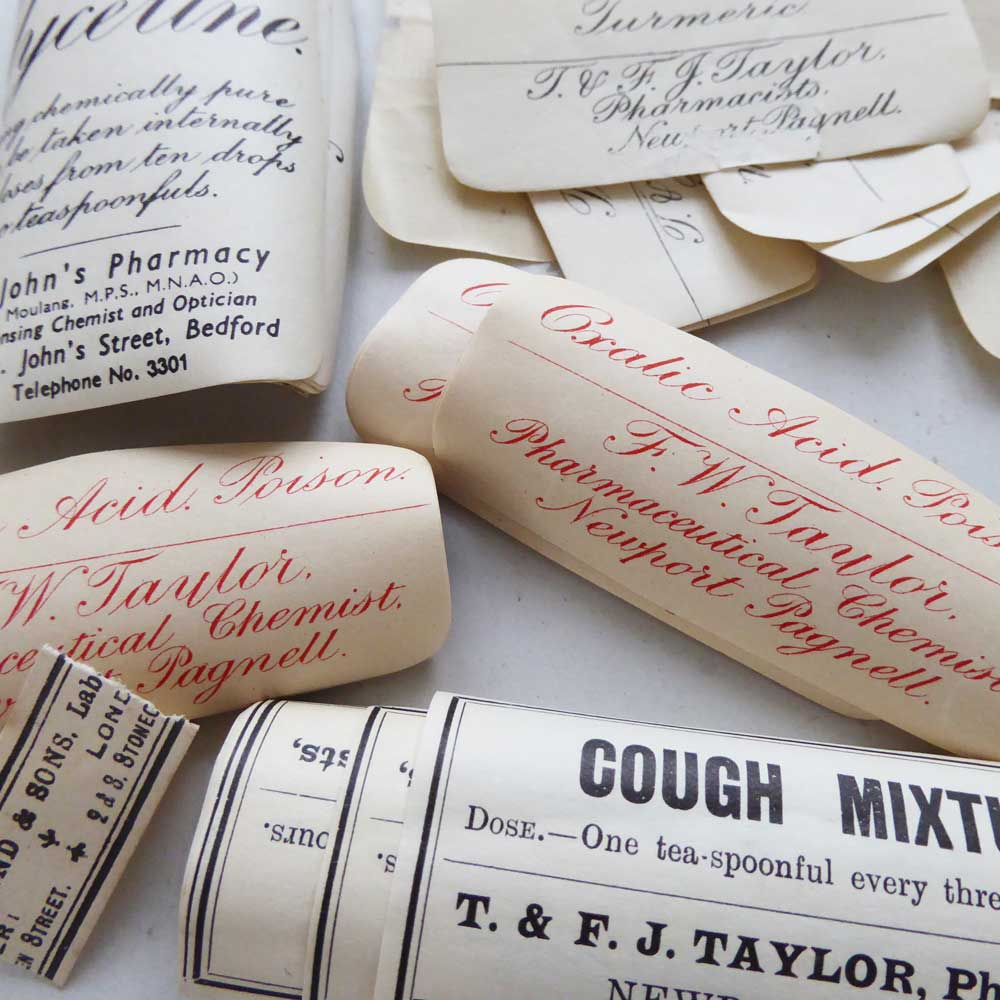 Vintage Medicine Bottle Labels  |The Enlightened Hound
