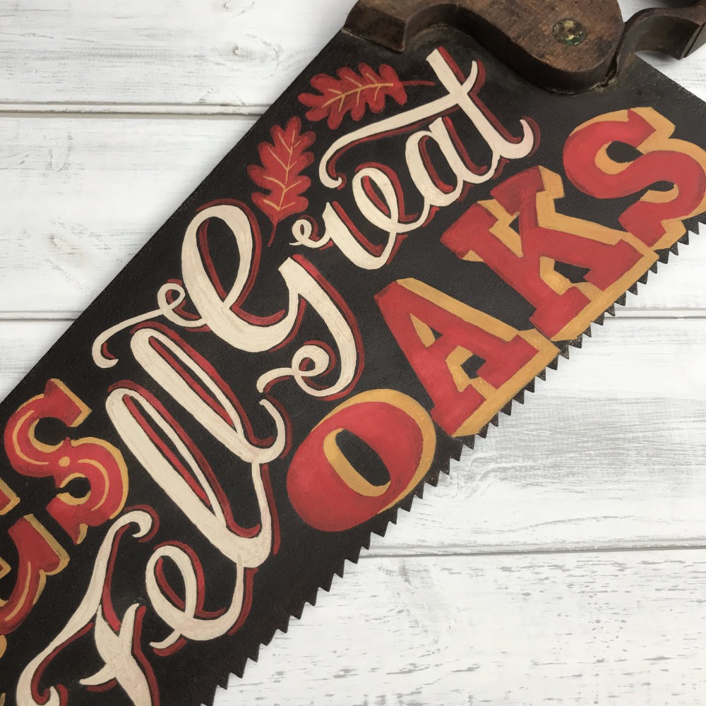 Vintage Saw Hand Painted Lettering  |The Enlightened Hound