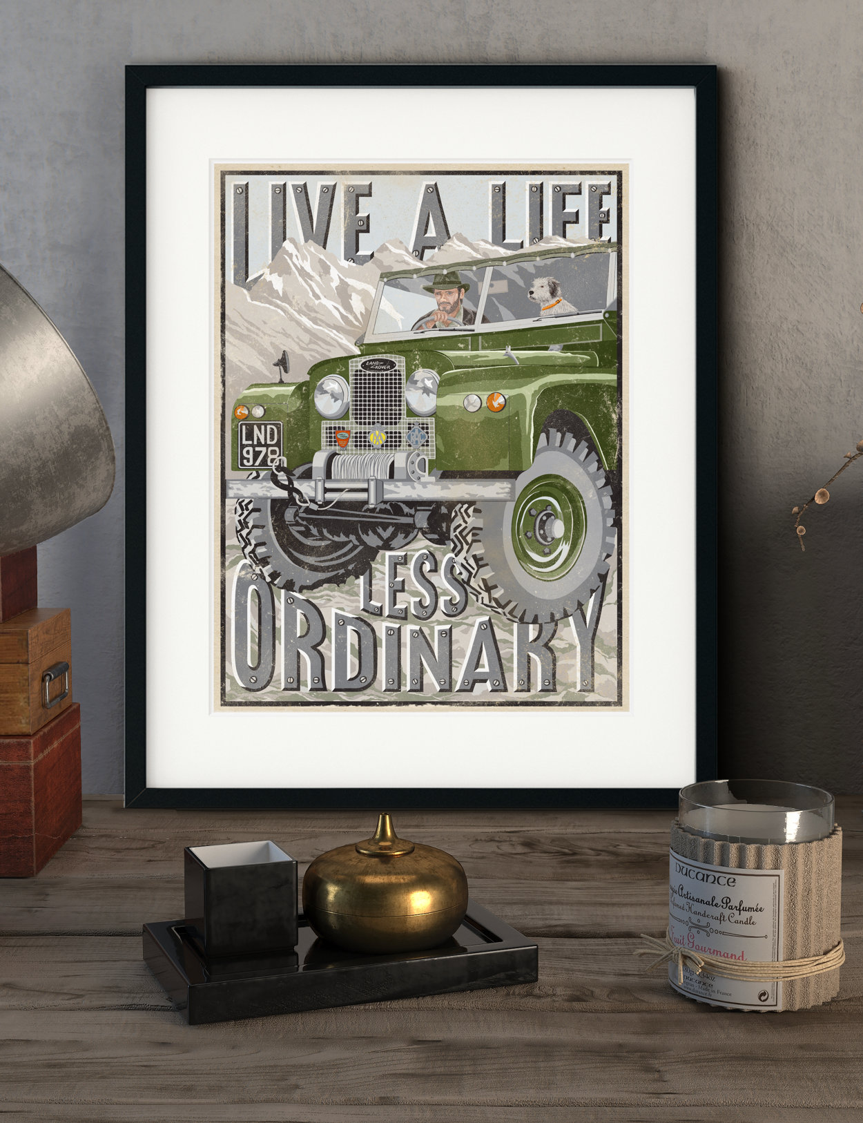 Vintage Land Rover Series Print | The Enlightened Hound