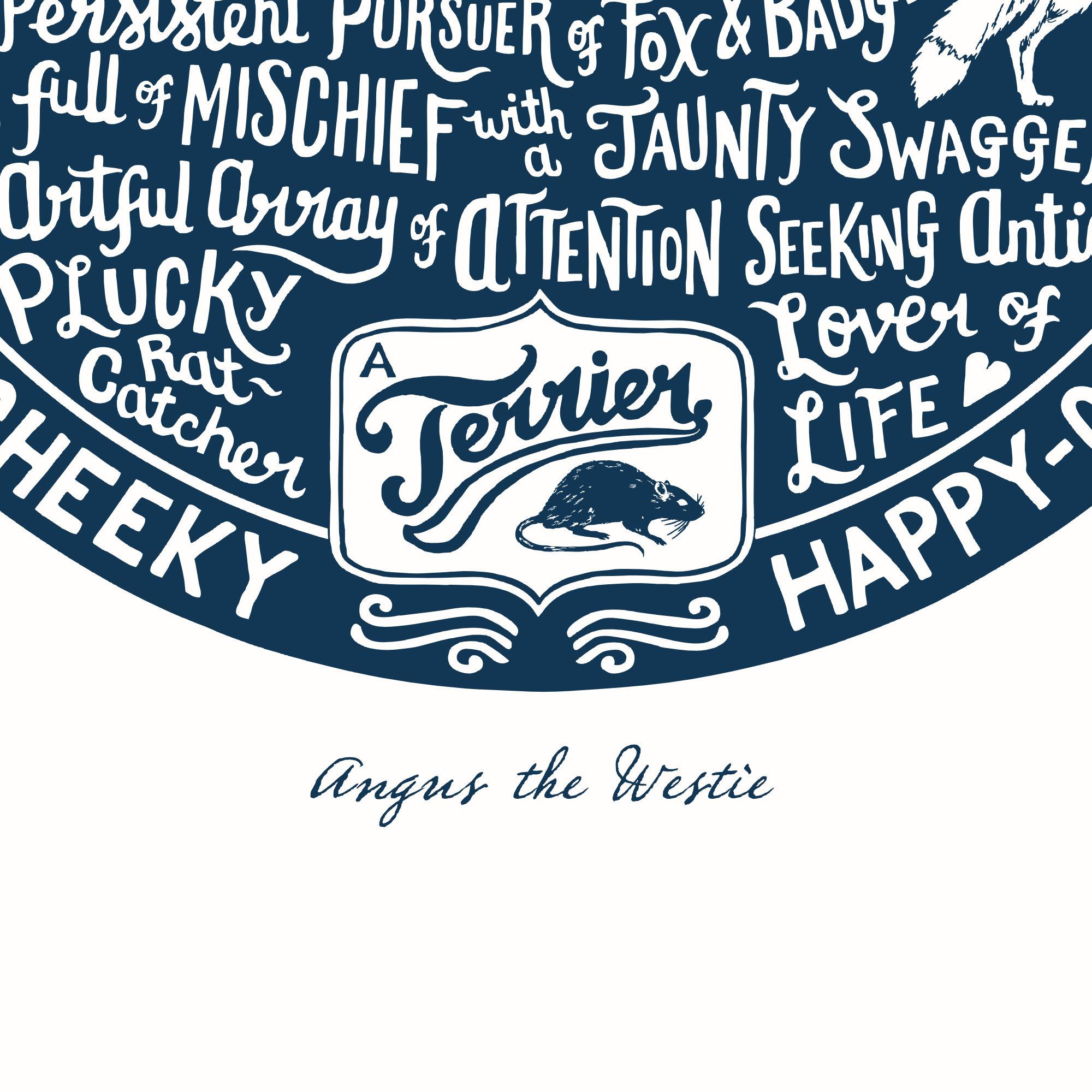 Personalised Westie Print | The Enlightened Hound