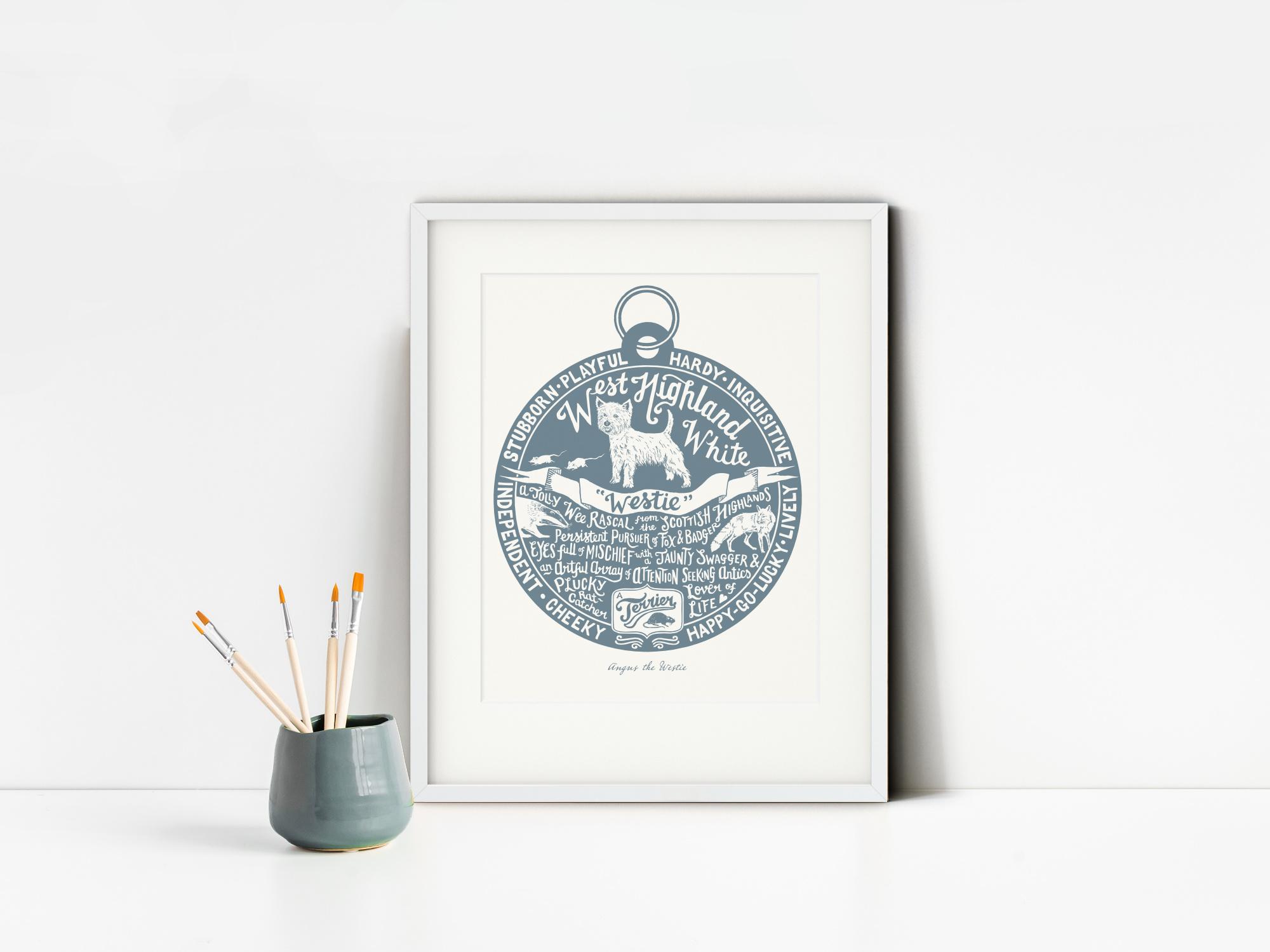 West Highland White Terrier Art Print | The Enlightened Hound
