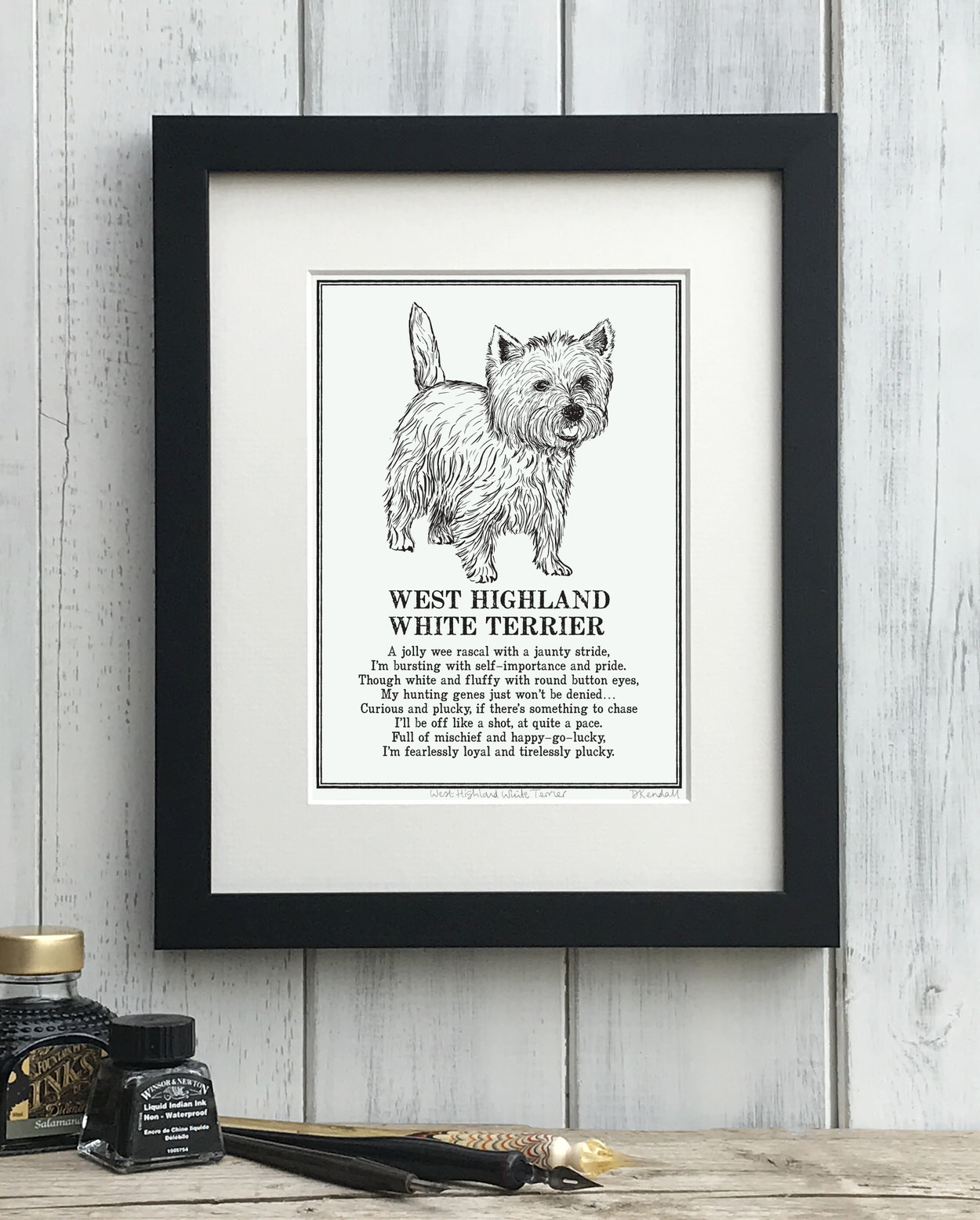 West Highland White Terrier Doggerel Print