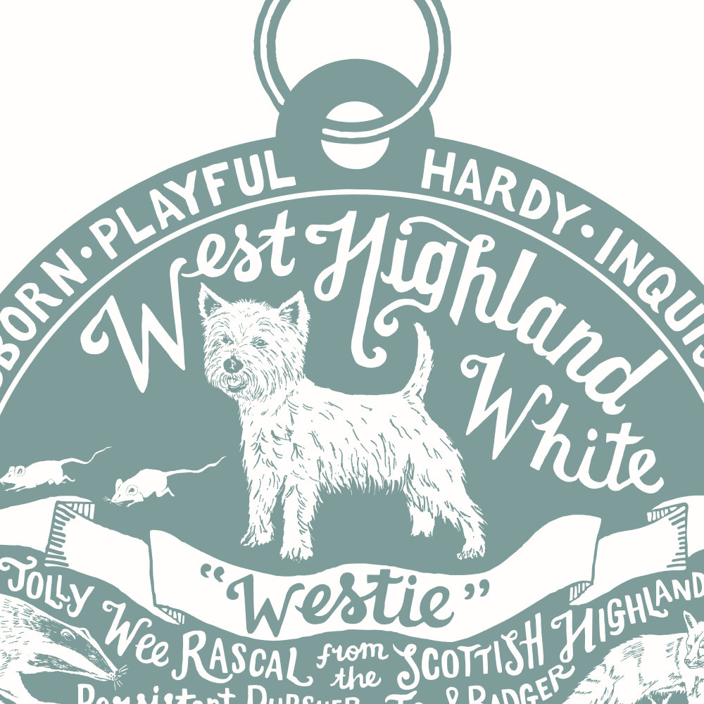 West Highland White Terrier Art Print | The Enlightened Hound