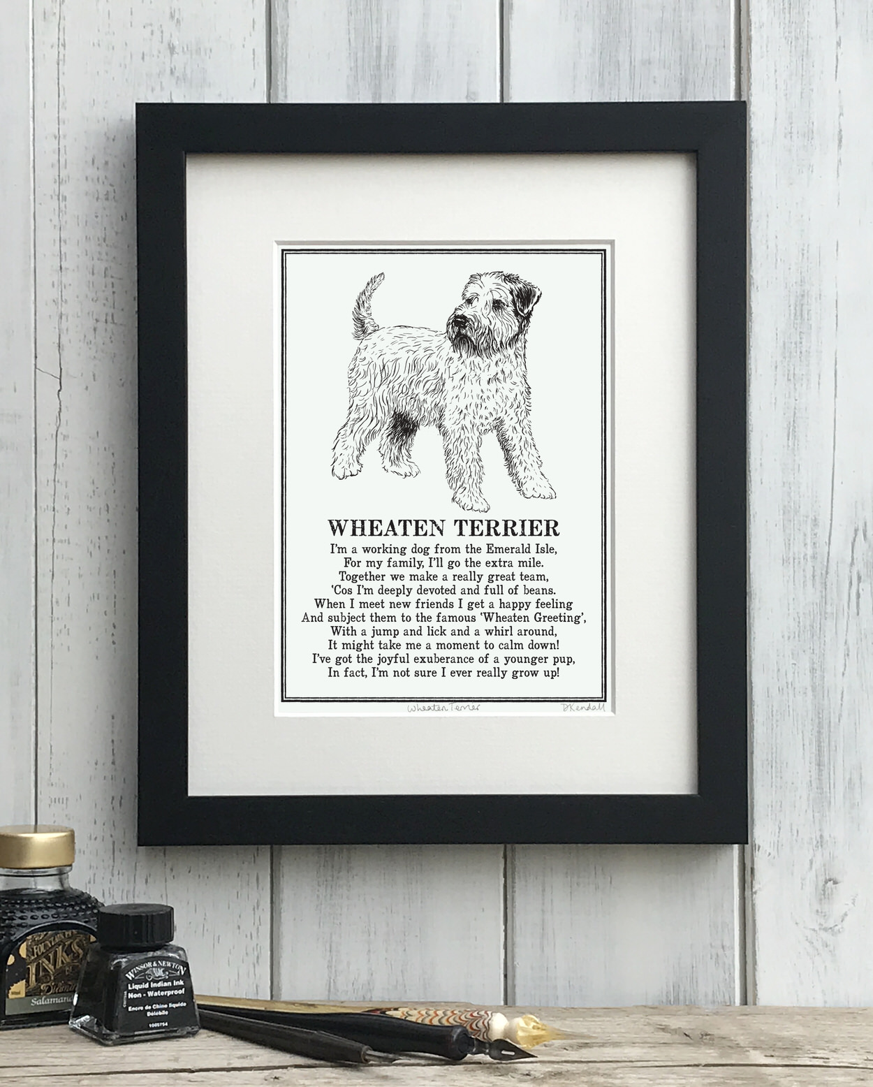 Wheaten Terrier Doggerel Print
