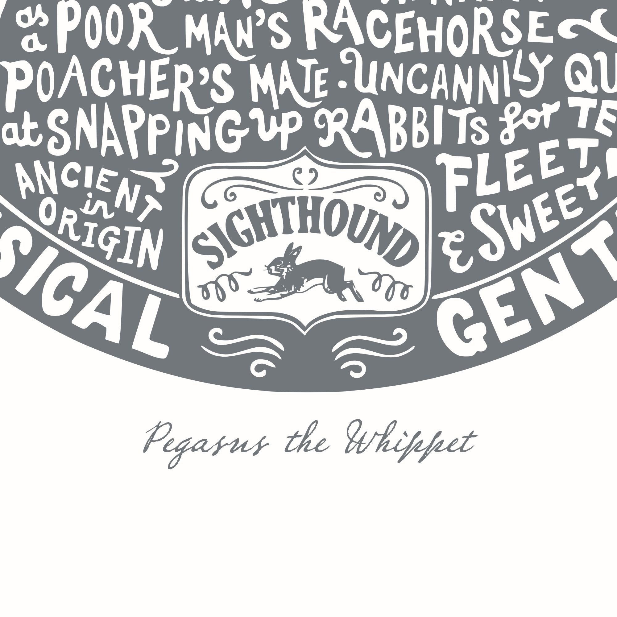 Personalised Whippet Print | The Enlightened Hound