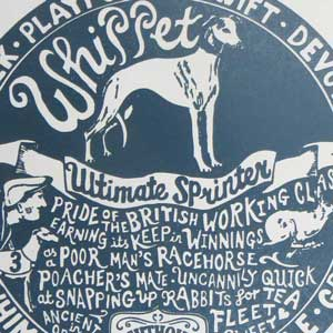 Whippet Print Detail by Debbie Kendall