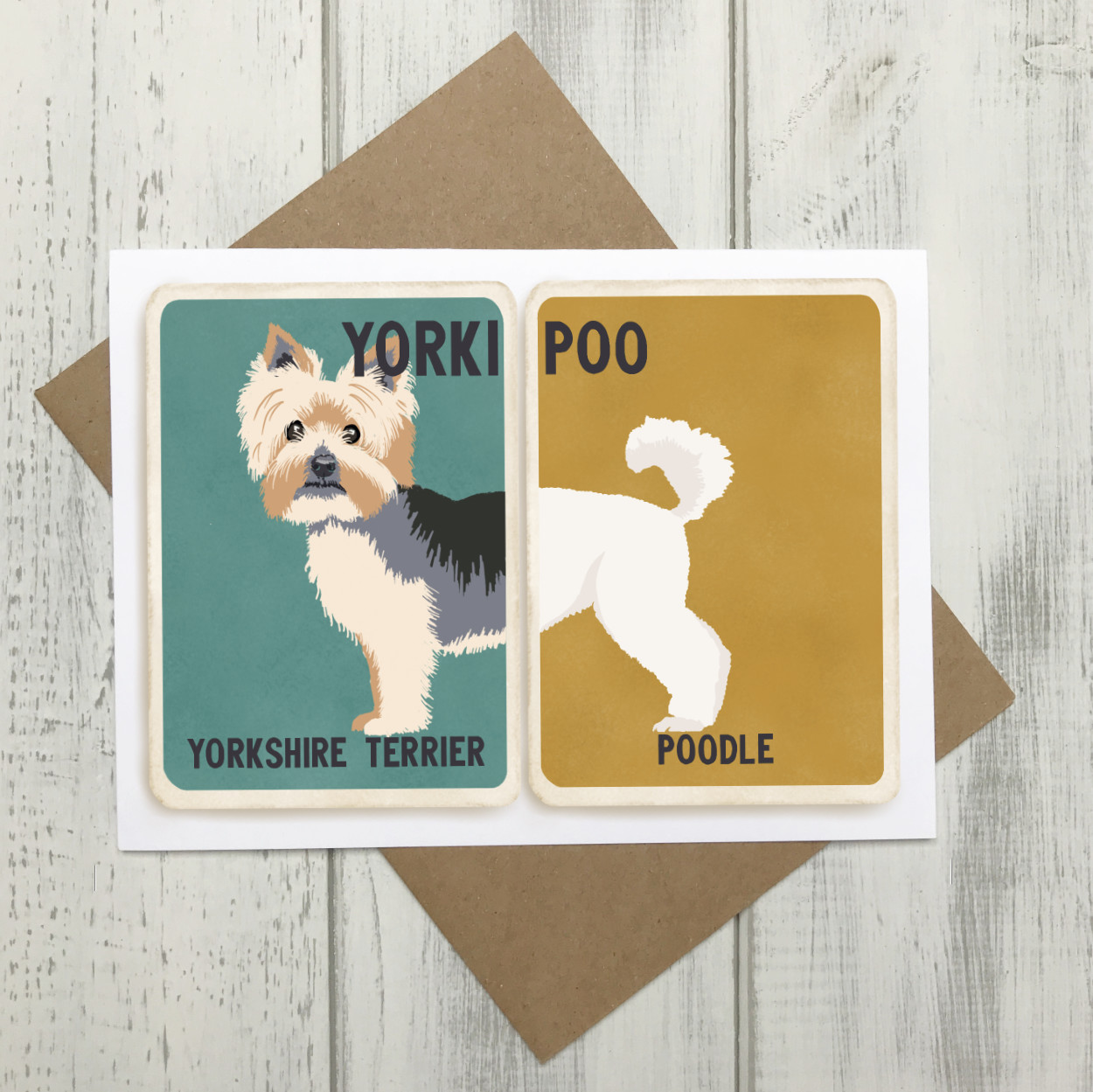 Yorkipoo Cross Breed Card | Yorkshire Terrier Poodle Cross