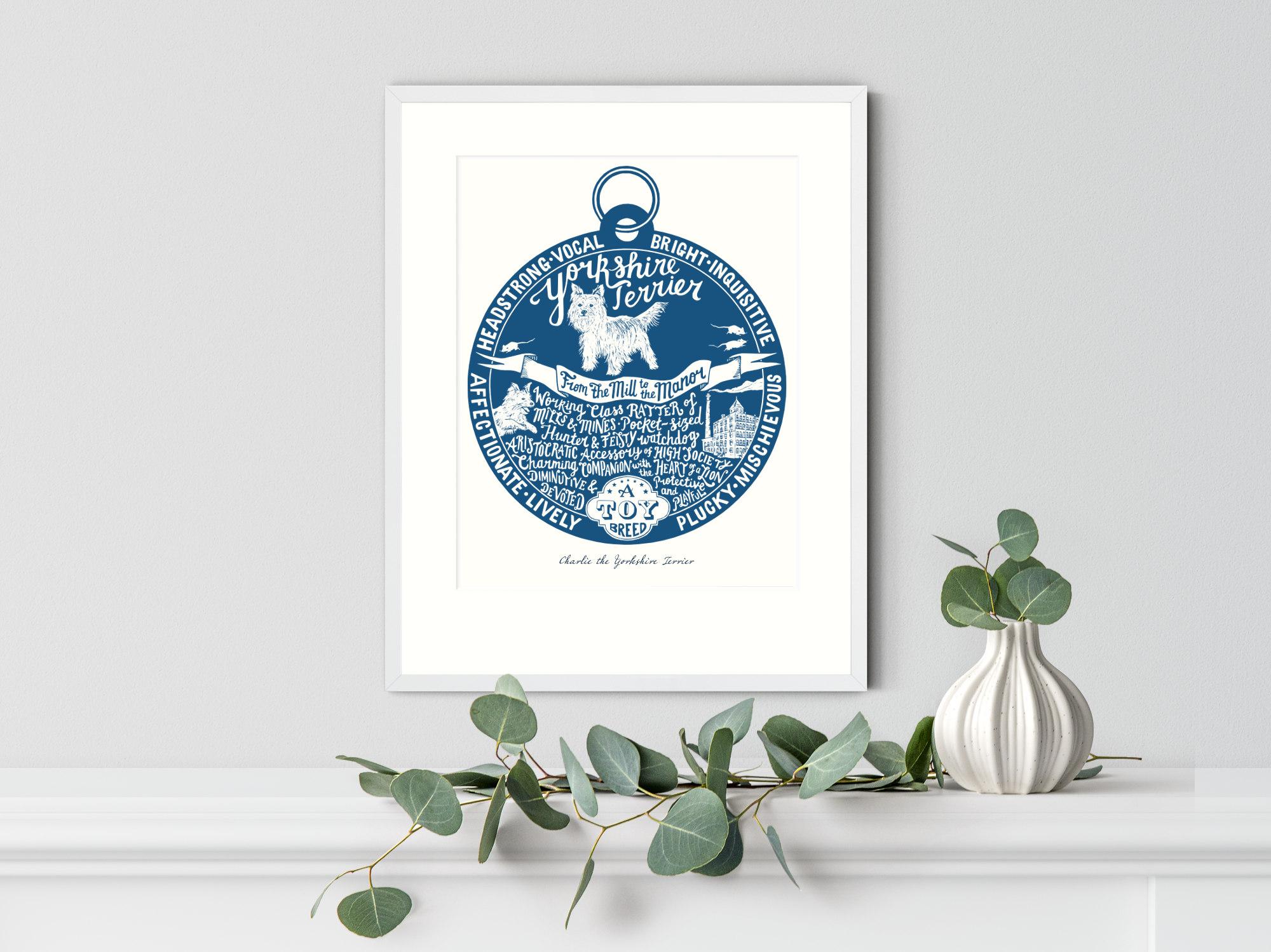 Yorkshire Terrier Art Print | The Enlightened Hound
