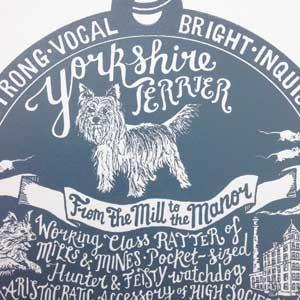 Yorkshire Terrier Print Detail by Debbie Kendall