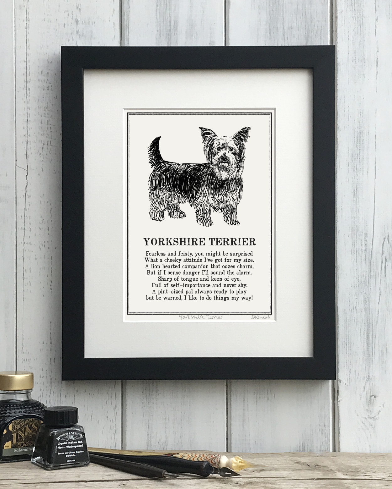 Yorkshire Terrier Doggerel Print