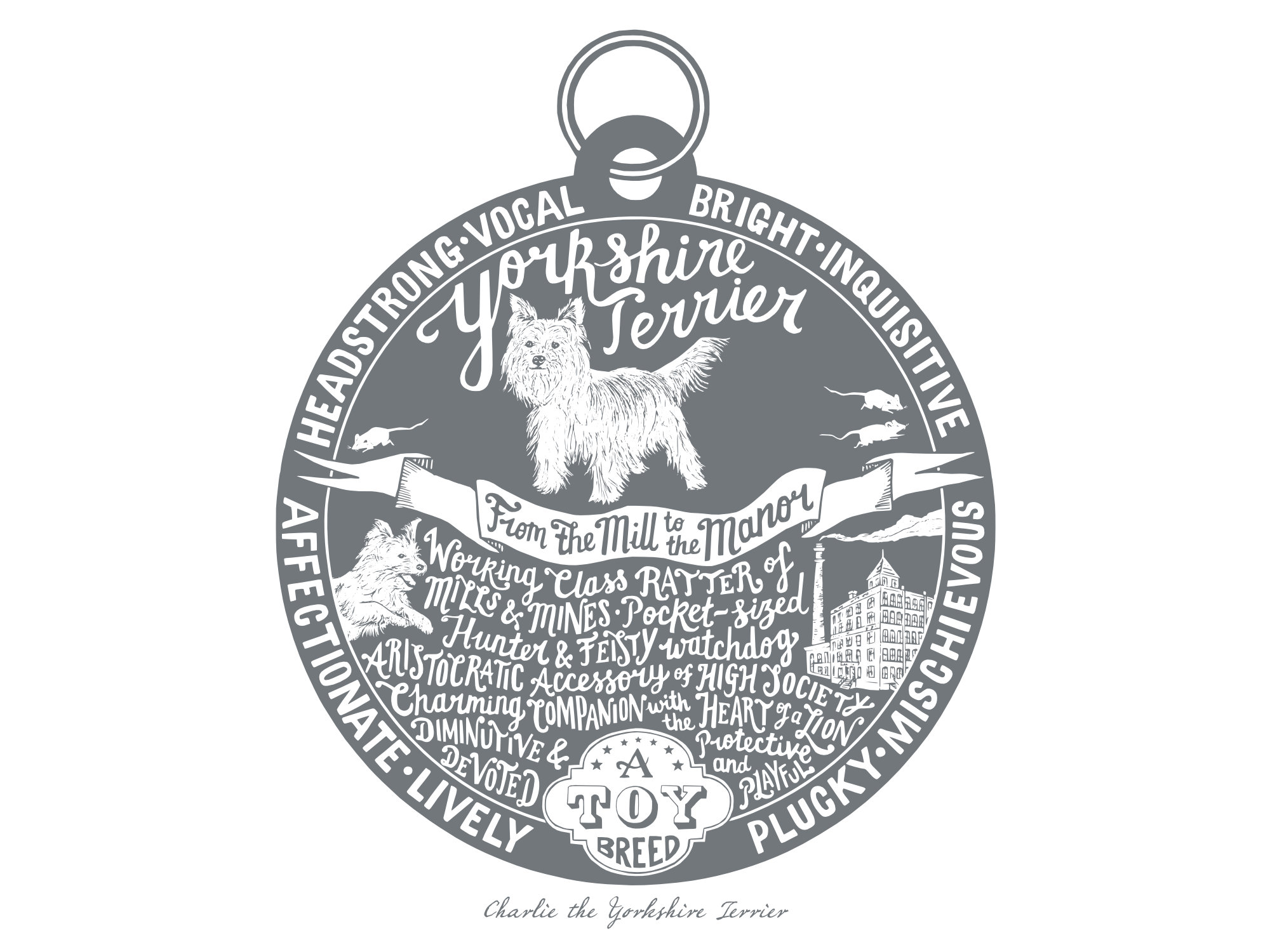 Yorkshire Terrier Dog Tag Print